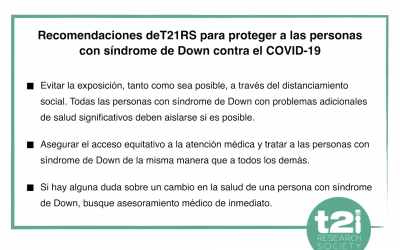 Recommendations to protect people with Down syndrome against COVID-19